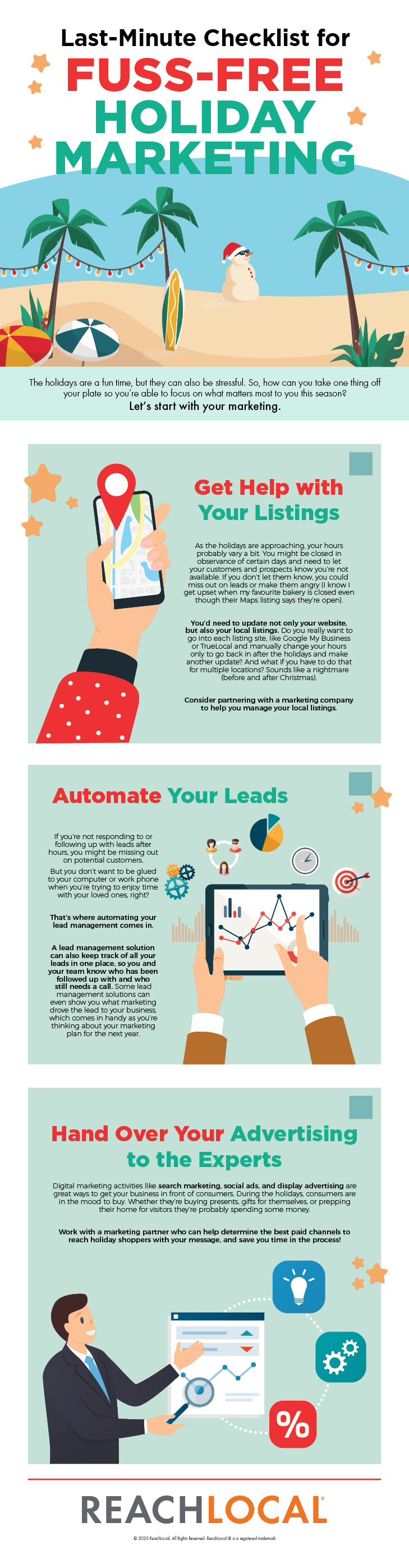 holiday marketing ideas infographic from ReachLocal